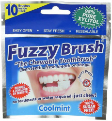 ФАЗЗИ БРАШ зубная щетка жевательная 95% ксилитола 10 шт.
