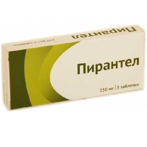 ПИРАНТЕЛ таблетки 250 мг 3 шт.