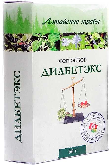 Алтайские травы диабетэкс фитосбор 50г, фото №1
