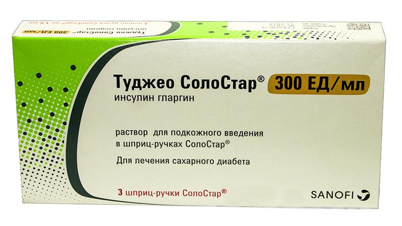 Туджео Солостар раствор для подкожного введения 300 ЕД/мл шприц-ручка 1,5 мл 3 шт.;