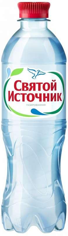 Святой источник вода питьевая газ пэт 0,5л, фото №1
