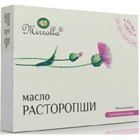 МИРРОЛЛА масло Расторопши капсулы 200 шт.