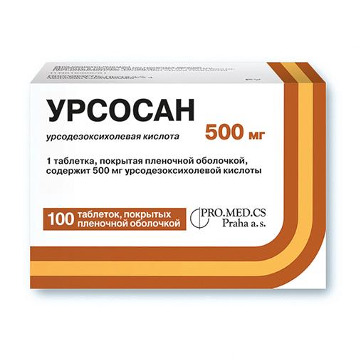 УРСОСАН ФОРТЕ таблетки 500 мг 100 шт.
