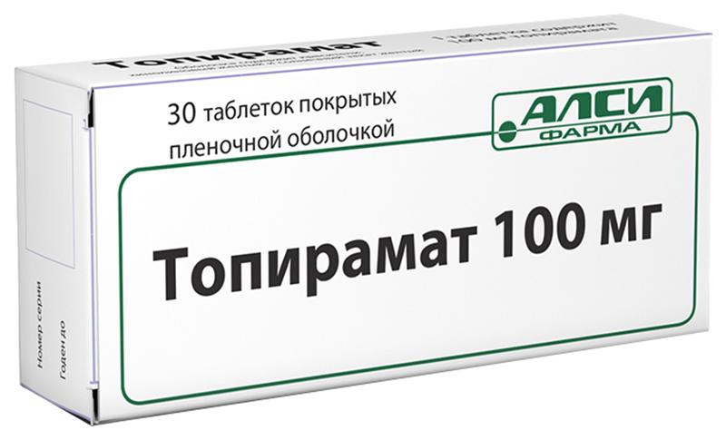 ТОПИРАМАТ таблетки 100 мг 30 шт.