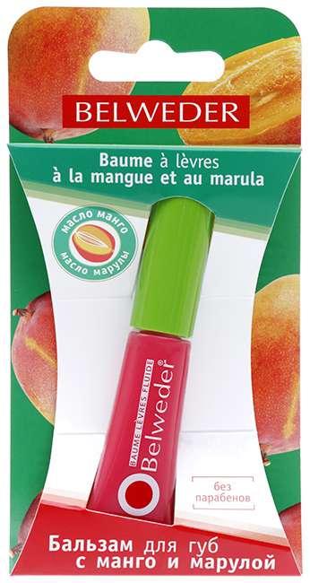 Бельведер бальзам-блеск для губ манго-марула 7мл, фото №1
