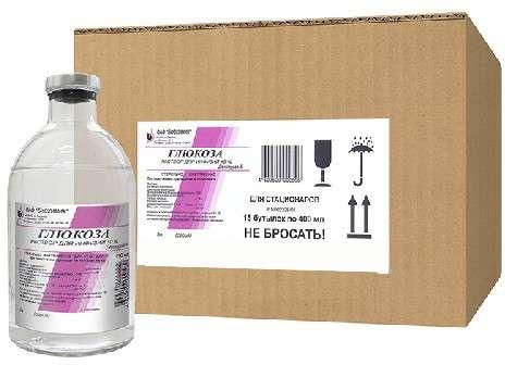 Глюкоза 10% 400мл 15 шт. раствор для инфузий, фото №1
