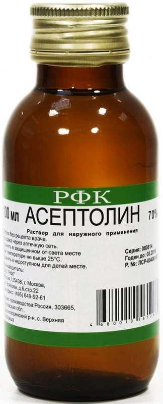 Асептолин 70% 100мл раствор для наружного применения, фото №1