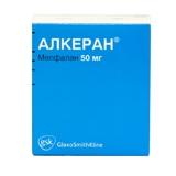 Алкеран 50мг n1 лиофилизат д/приготовления р-ра для в/сосудистого введения glaxosmithkline manufacturing s.p.a.
