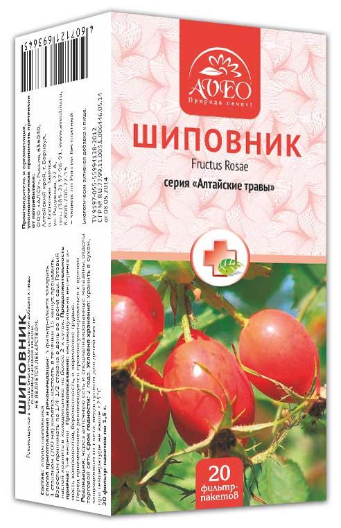 Авео алтайские травы шиповник 1,5г 20 шт. фильтр-пакет, фото №1