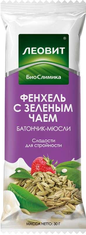 Леовит биослимика батончик-мюсли фенхель/зеленый чай 30г, фото №1