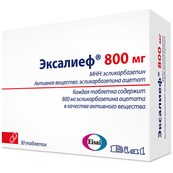ЭКСАЛИЕФ таблетки 800 мг 30 шт.