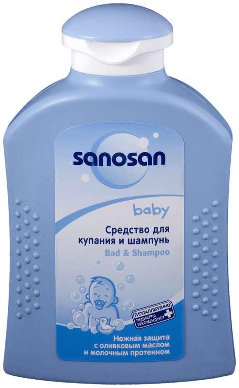 Саносан шампунь-средство для купания для младенцев 200мл, фото №1
