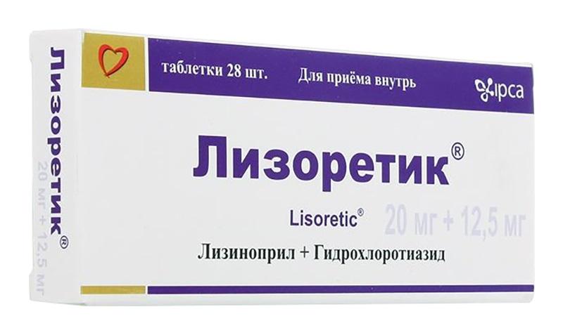 ЛИЗОРЕТИК таблетки 28 шт.