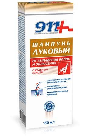 911 луковый шампунь против выпадения волос красный перец 150мл твинс тэк, фото №1