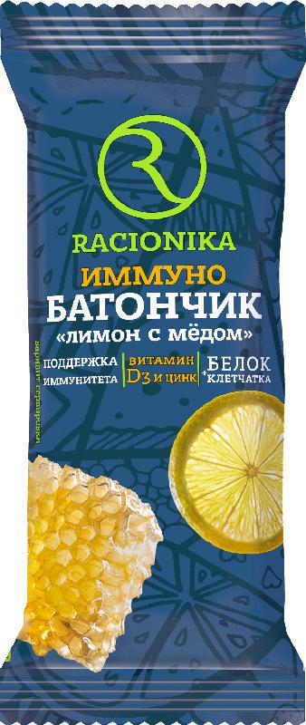 РАЦИОНИКА ИММУНО батончик глазированный Лимон с Медом 30г