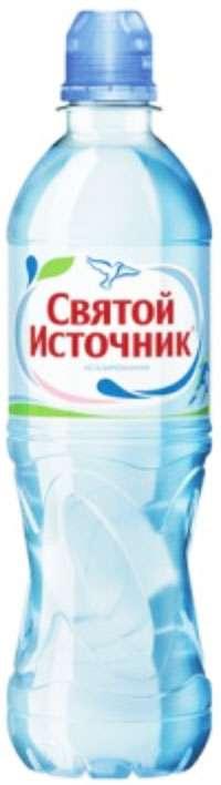 Святой источник вода питьевая без газа спортивное 0,5л, фото №1