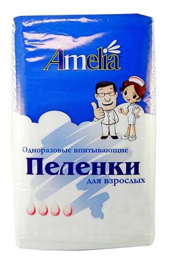 Амелия пеленки для взрослых 60х90 10 шт., фото №1