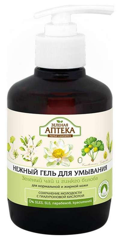 Зеленая аптека гель для умывания зеленый чай и гинкго билоба 270мл, фото №1