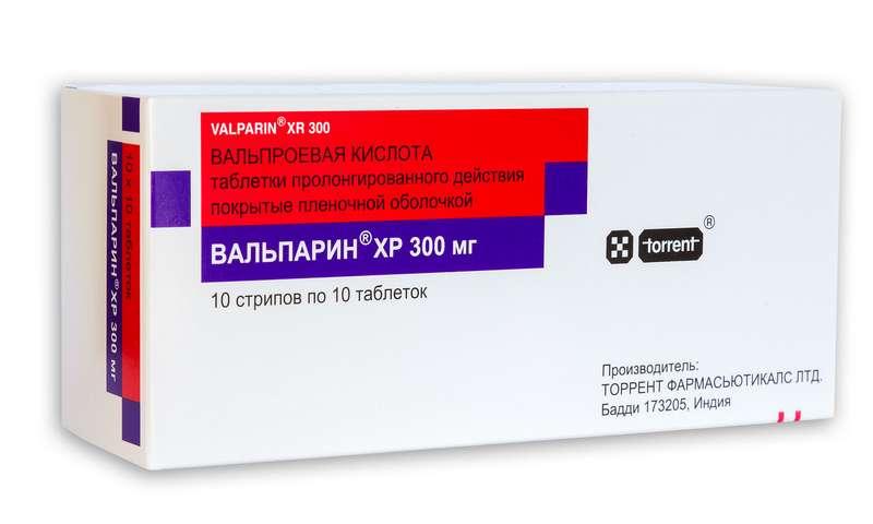 ВАЛЬПАРИН ХР таблетки 300 мг 100 шт.