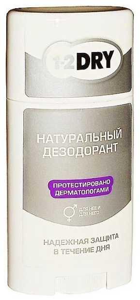 1-2 драй дезодорант-стик 100% натуральный 50г, фото №1