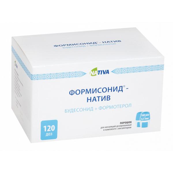 ФОРМИСОНИД-НАТИВ порошок для ингаляций дозированный 160 мкг/4,5 мкг 120 шт.
