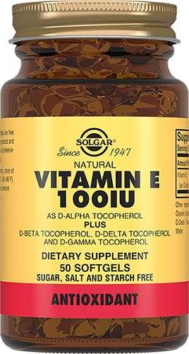 Солгар витамин е капсулы 100ме 50 шт., фото №1