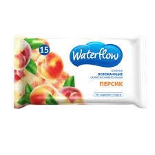 Вотерфлоу ( waterflow) салфетки влажные персик №15