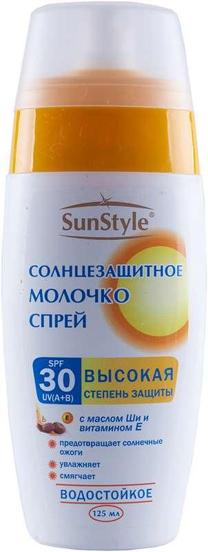 Сан стайл молочко-спрей spf-30 для загара 125мл, фото №1