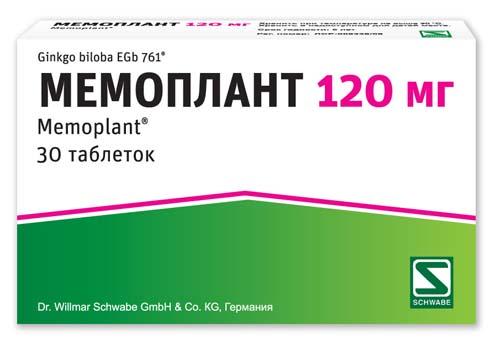 Мемоплант 120мг 30 шт. таблетки, фото №1