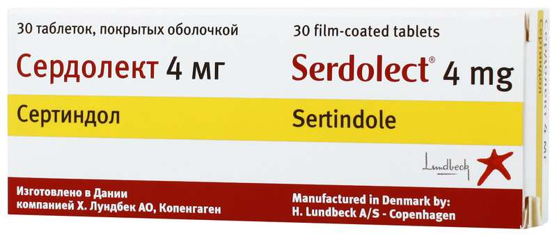 СЕРДОЛЕКТ таблетки 4 мг 30 шт.