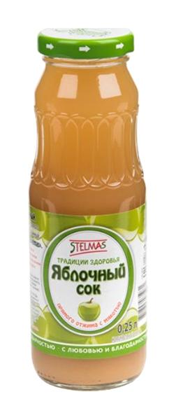 Стэлмас сок яблочный с мякотью 0,25л, фото №1