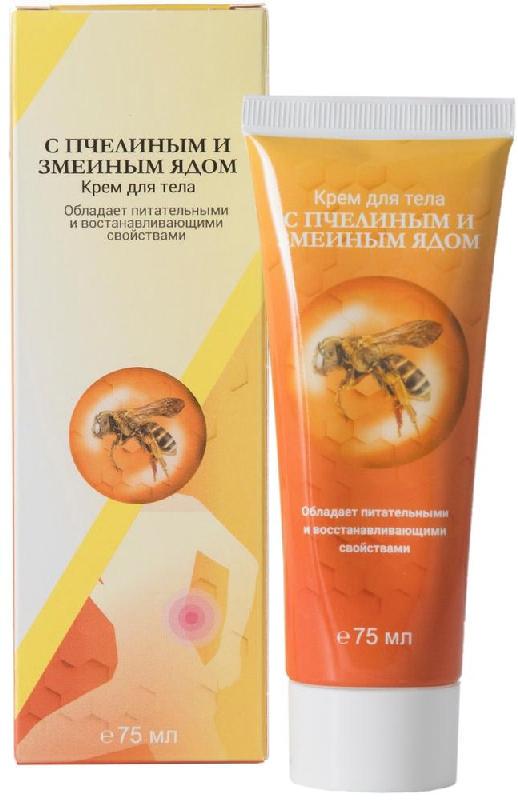 ПРОСТОЙ РЕЦЕПТ крем для тела с Пчелиным/Змеиным ядом 75мл