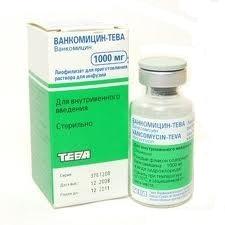 Ванкомицин-тева 1г n1 порошок д/приготовления р-ра д/инфузий