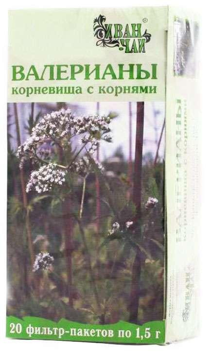 Валериана корневище с корнями 1,5г 20 шт. фильтр-пакет, фото №1