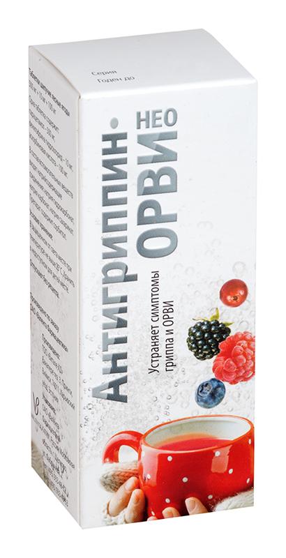 Антигриппин-орви нео 12 шт. таблетки шипучие лесные ягоды, фото №1