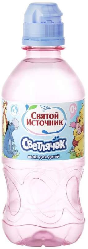 Святой источник светлячок вода питьевая негазированная для детей 0,3л, фото №1