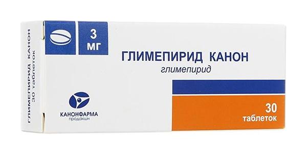 ГЛИМЕПИРИД КАНОН таблетки 3 мг 30 шт.