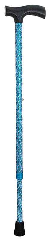 Амрус трость металлическая телескопическая с ортопедической рукояткой amct25 bu синяя, фото №1