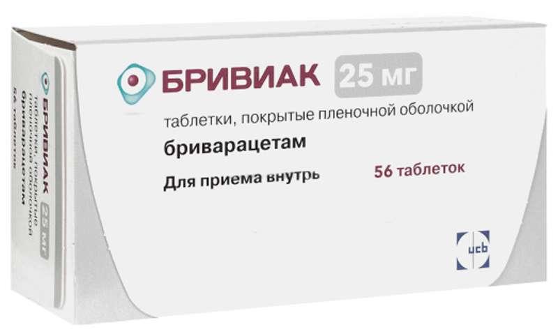 БРИВИАК таблетки 25 мг 56 шт.