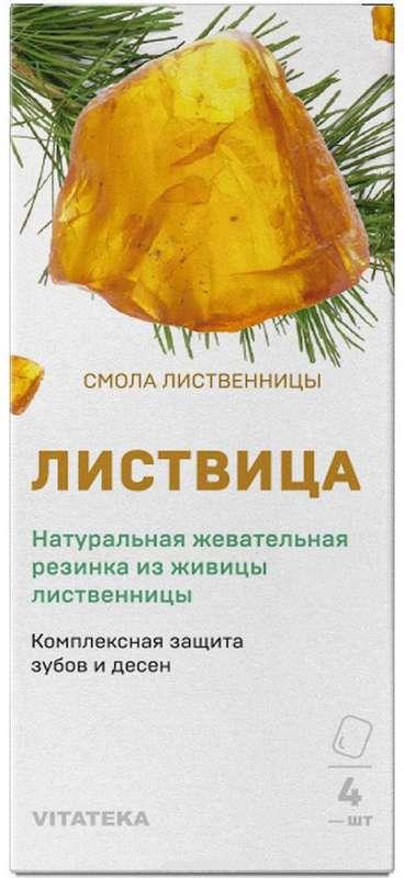 ВИТАТЕКА смолка жевательная лиственницы Листвица 0,8г 4 шт.