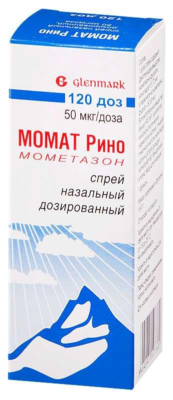 Момат рино 50мкг/доза 60доз спрей назальный дозированный, фото №1