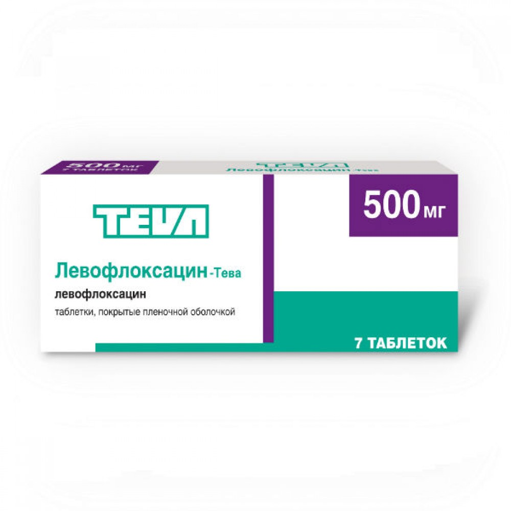 ЛЕВОФЛОКСАЦИН-ТЕВА таблетки 500 мг 7 шт.