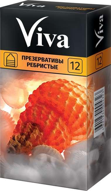 Вива презервативы ребристые 12 шт., фото №1
