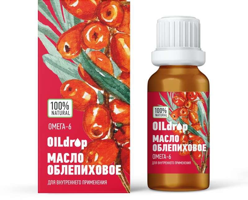 ОИЛДРОП масло Облепиховое (25 мг% каротиноидов Горноалтайское) 50мл Алтайский букет