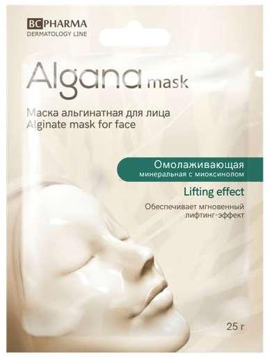 Альгана лифтинг эффект маска для лица альгинатная минеральная омолаживающая с миоксинолом 25г, фото №1
