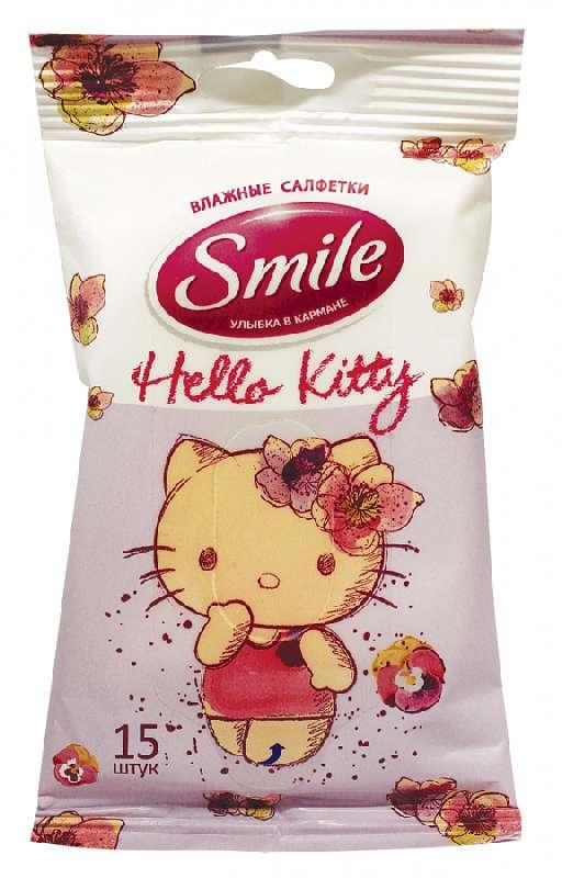 Смайл (smile) салфетки влажные хелло китти для детей №15, фото №1