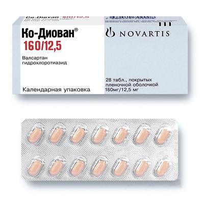 КО-ДИОВАН таблетки 160 мг+12,5 мг 28 шт.
