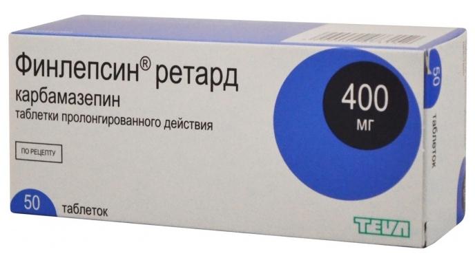 ФИНЛЕПСИН РЕТАРД таблетки 400 мг 50 шт.