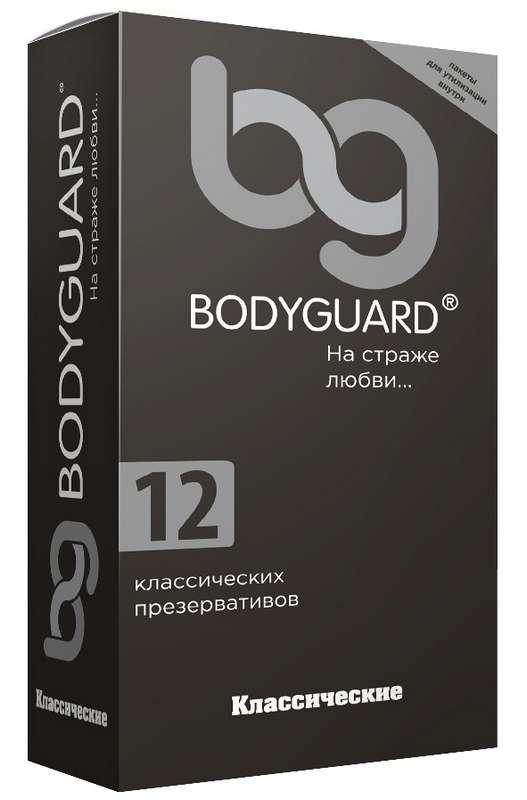 Бодигард презервативы классические 12 шт. кит, фото №1