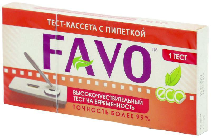 ФАВО тест на беременность кассетный с пипеткой 1 шт.